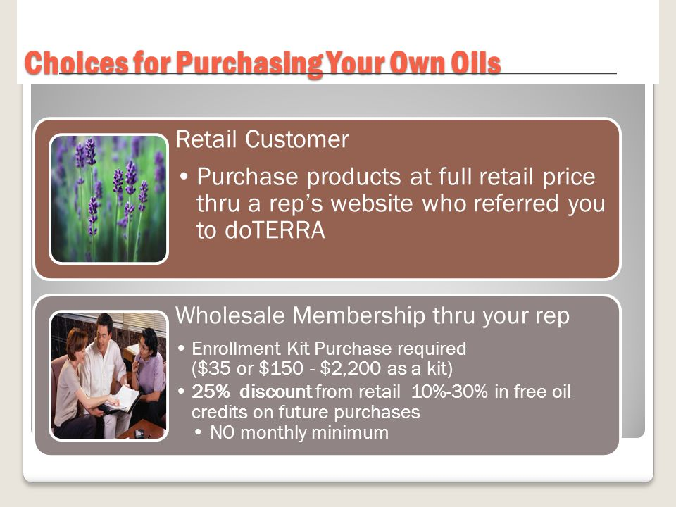 Choices for Purchasing Your Own Oils