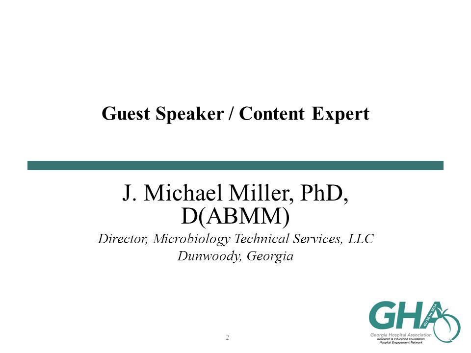 Guest Speaker / Content Expert