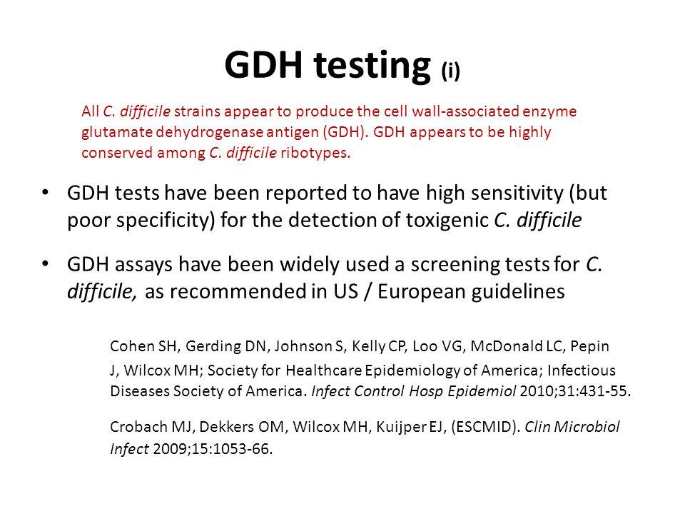 GDH testing (i)