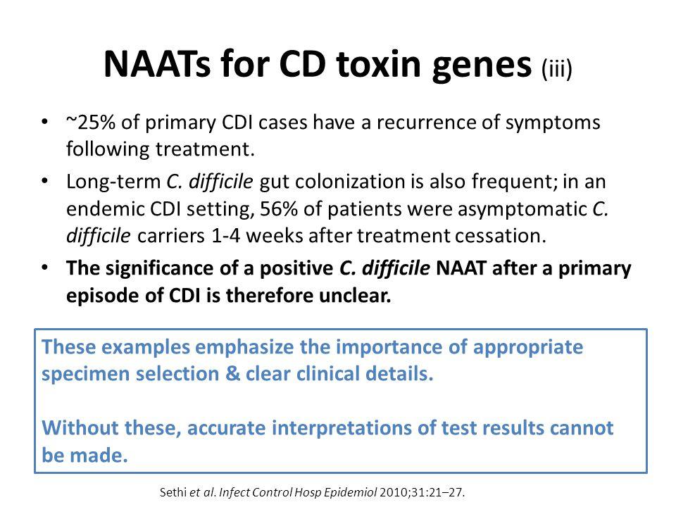 NAATs for CD toxin genes (iii)