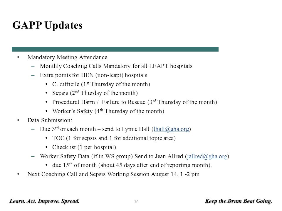 GAPP Updates Mandatory Meeting Attendance