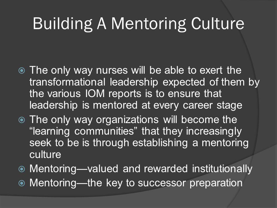 Building A Mentoring Culture