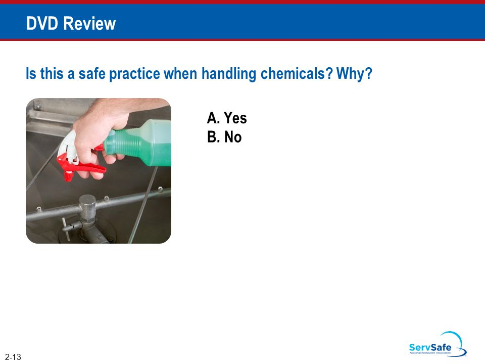 DVD Review Is this a safe practice when handling chemicals Why