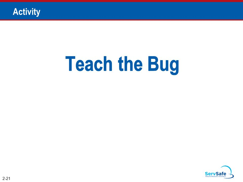 Teach the Bug Activity Instructor Notes