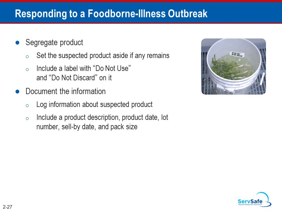 Responding to a Foodborne-Illness Outbreak