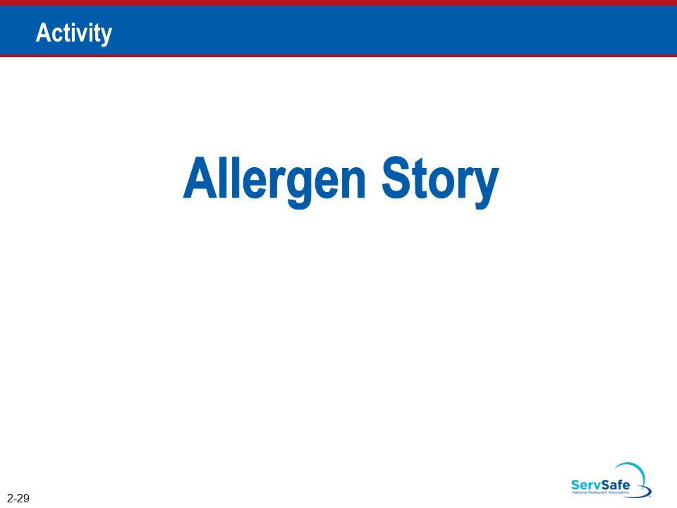Allergen Story Activity Instructor Notes