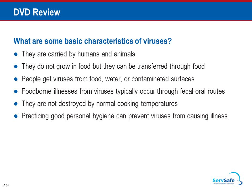 DVD Review What are some basic characteristics of viruses