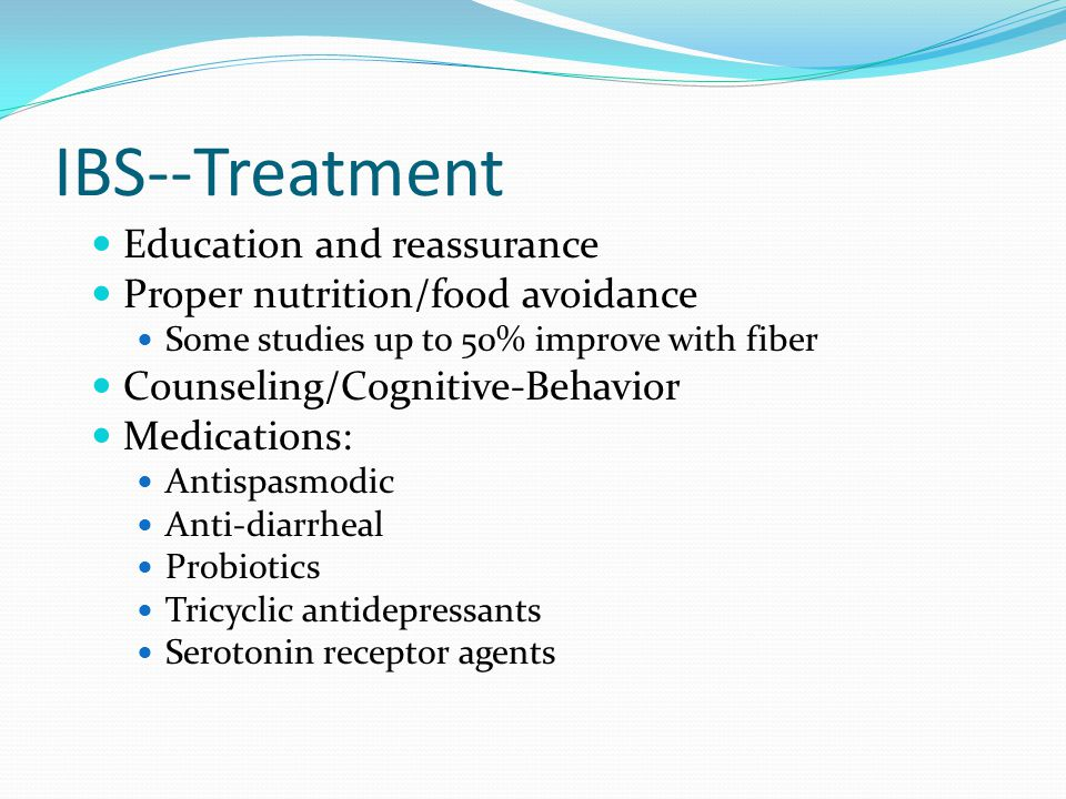 IBS--Treatment Education and reassurance