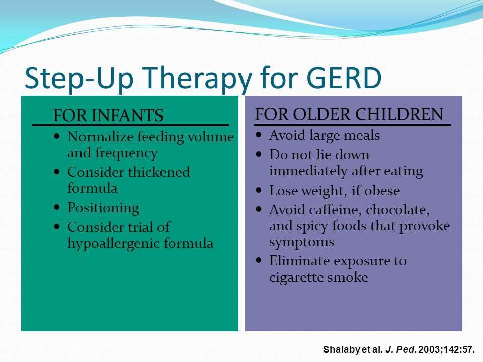 Step-Up Therapy for GERD