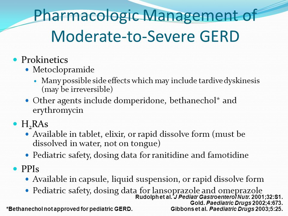 Pharmacologic Management of Moderate-to-Severe GERD
