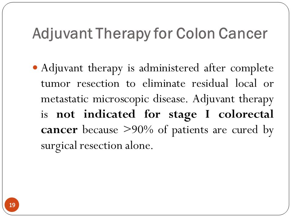 Adjuvant Therapy for Colon Cancer