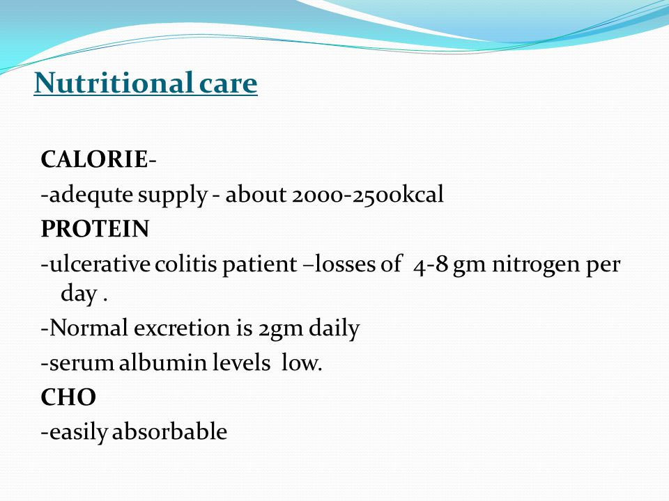 Nutritional care