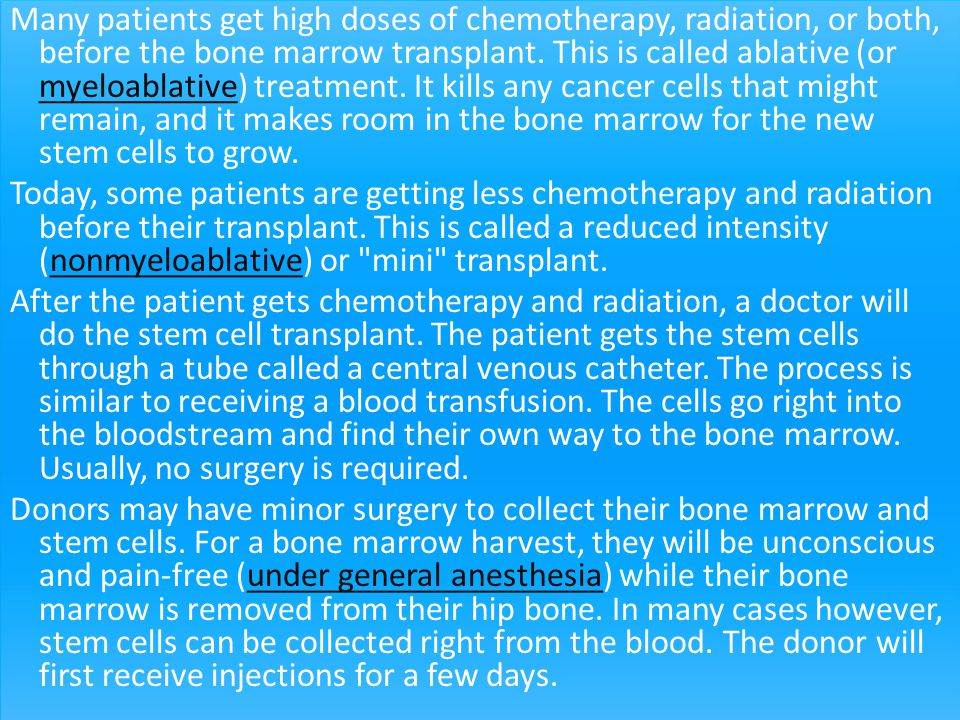 Umbilical cord blood transplant
