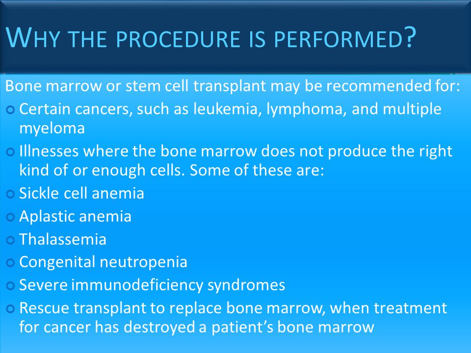 Why the procedure is performed
