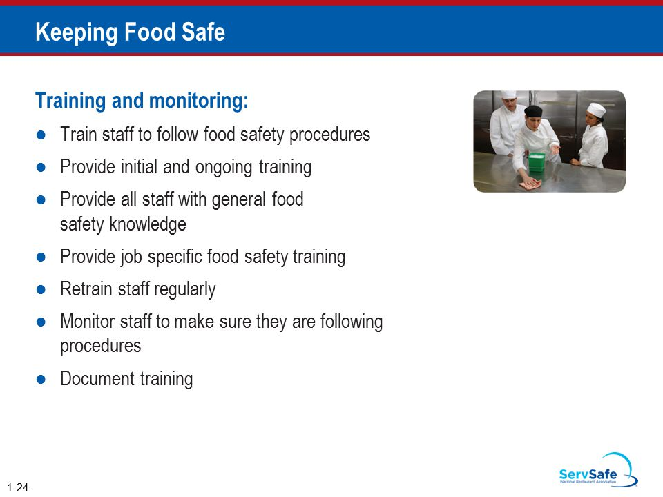 Keeping Food Safe Training and monitoring: