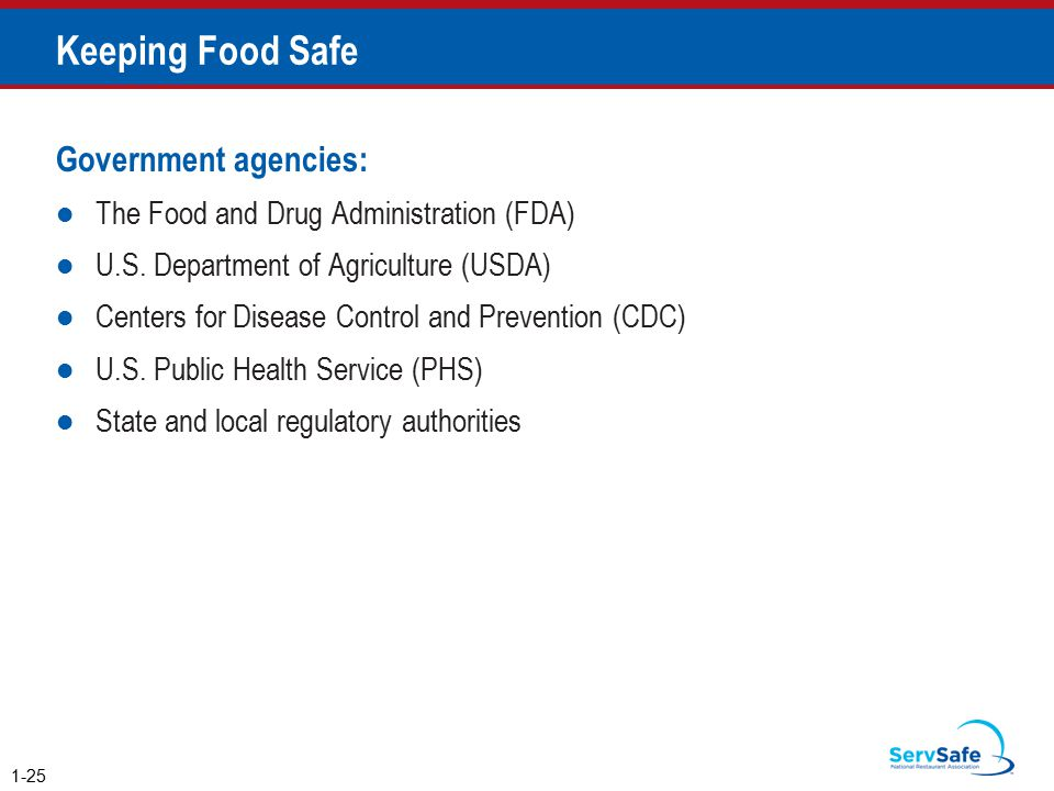 Keeping Food Safe Government agencies: