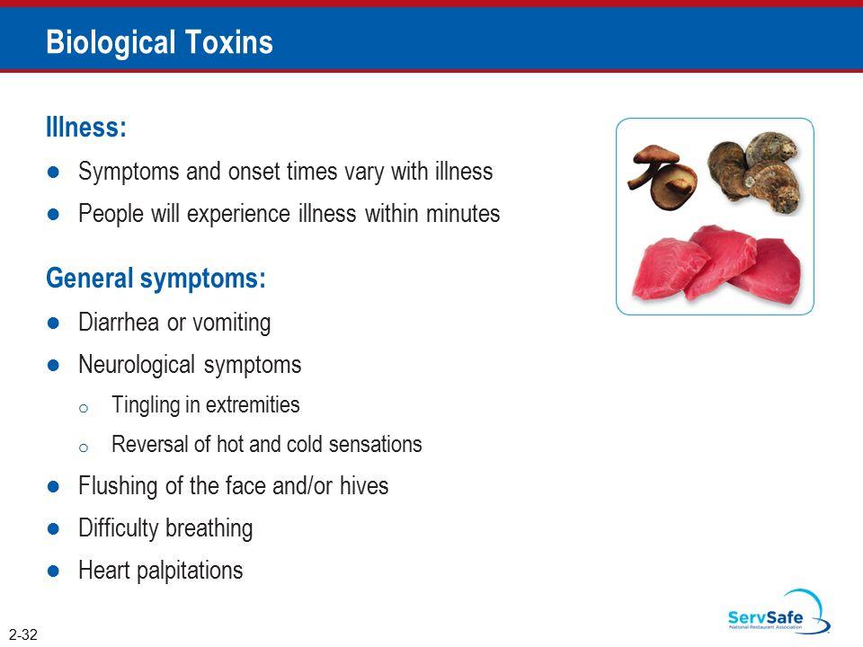Biological Toxins Illness: General symptoms: