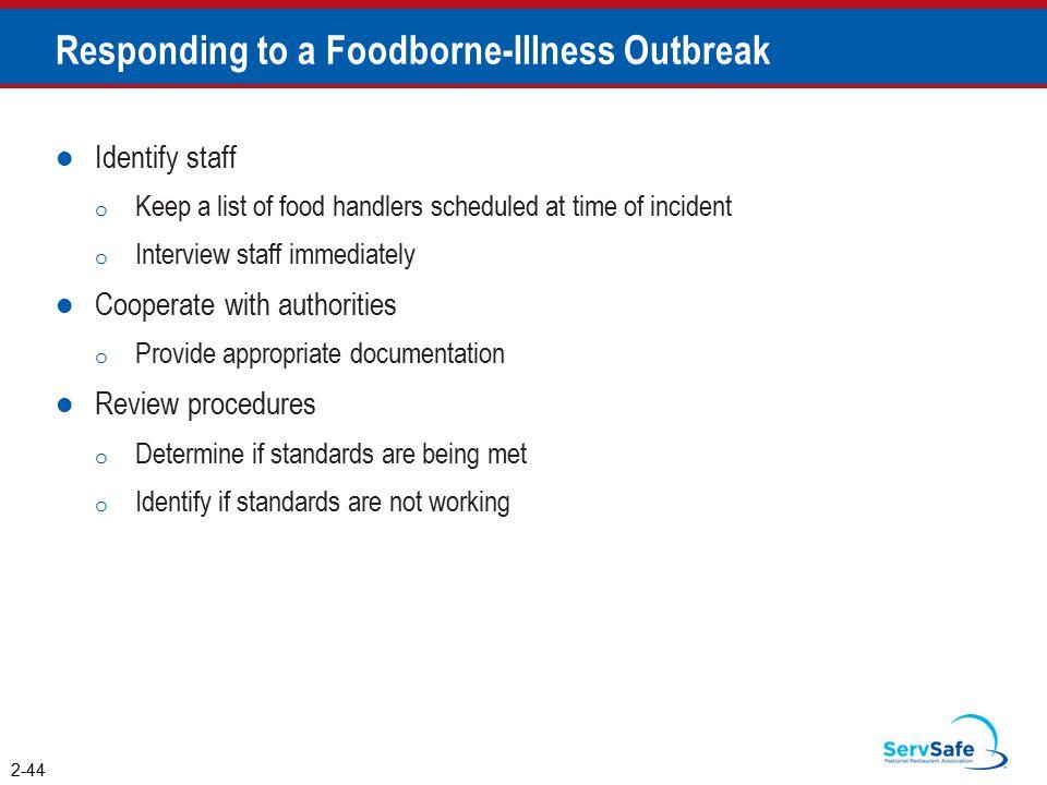 Responding to a Foodborne-Illness Outbreak