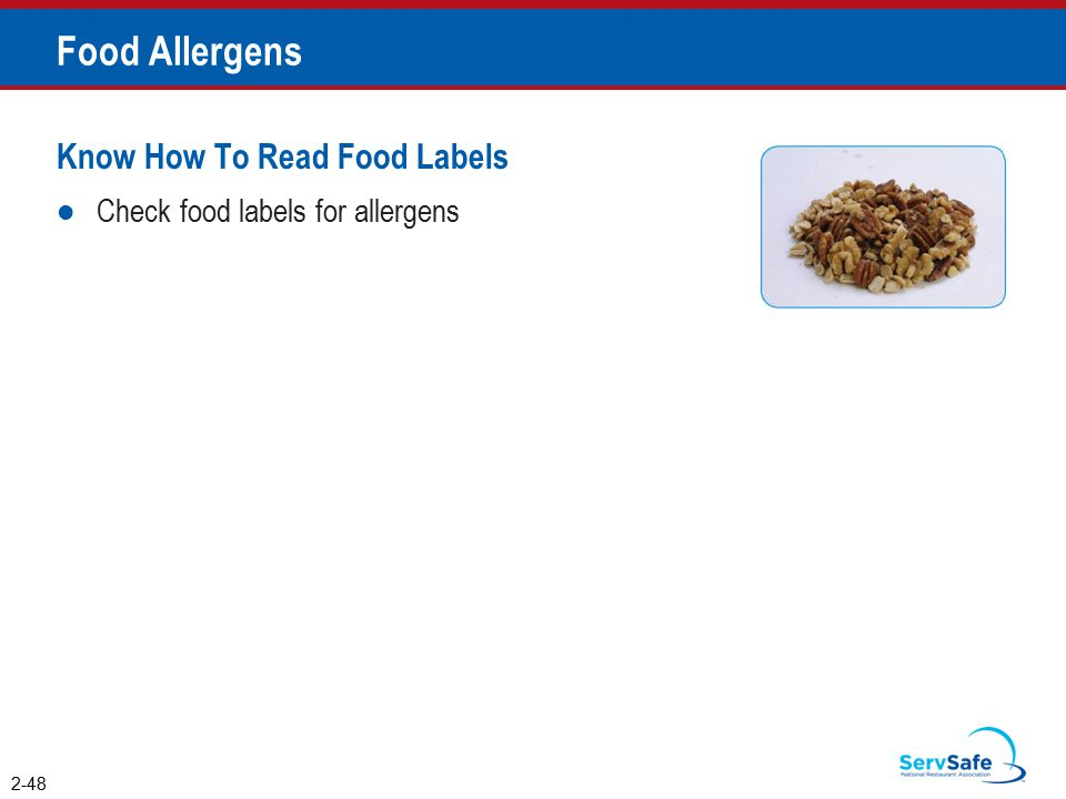 Food Allergens Know How To Read Food Labels
