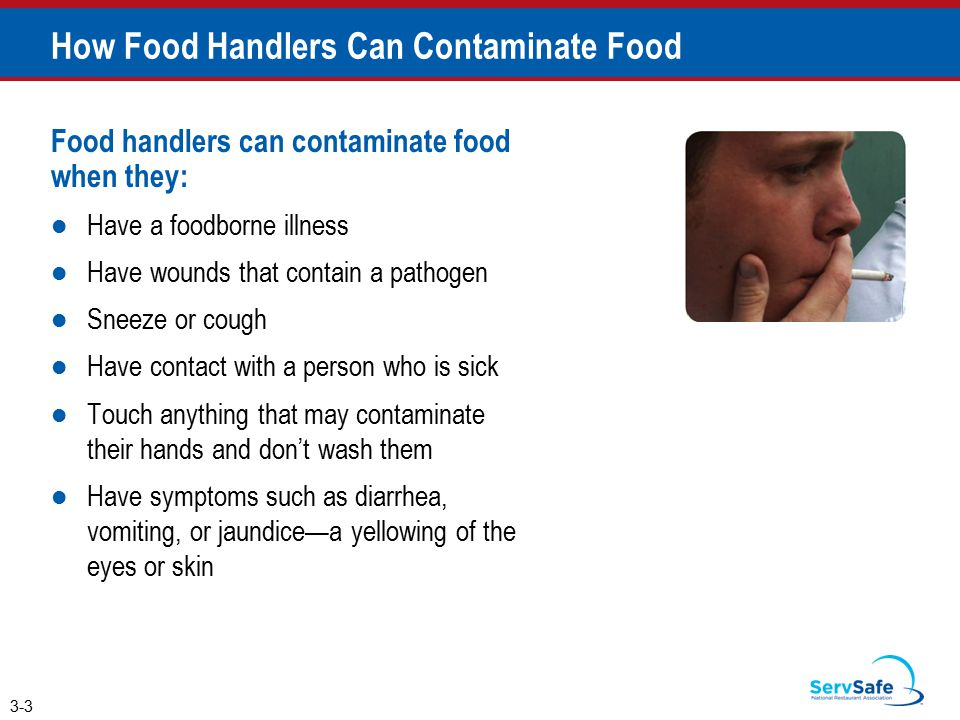 How Food Handlers Can Contaminate Food