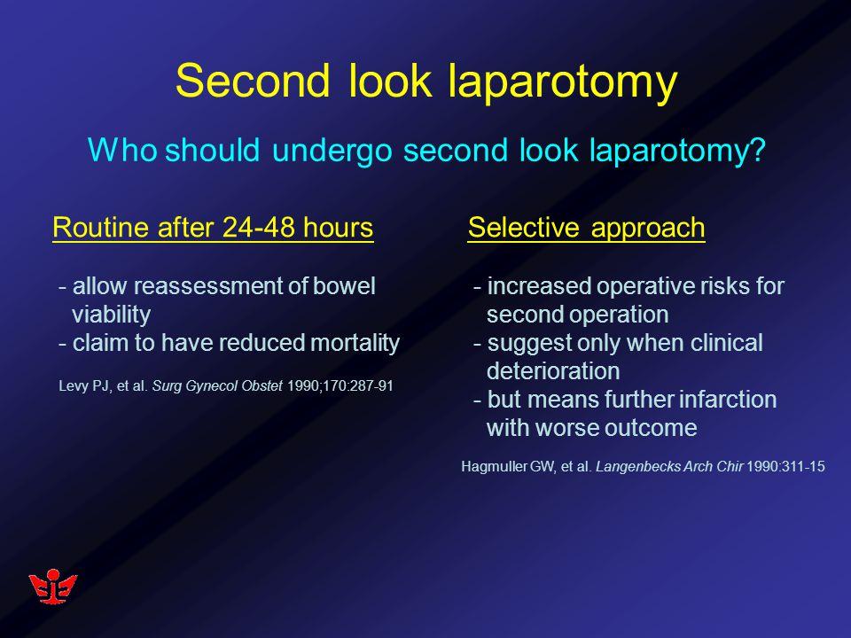 Second look laparotomy