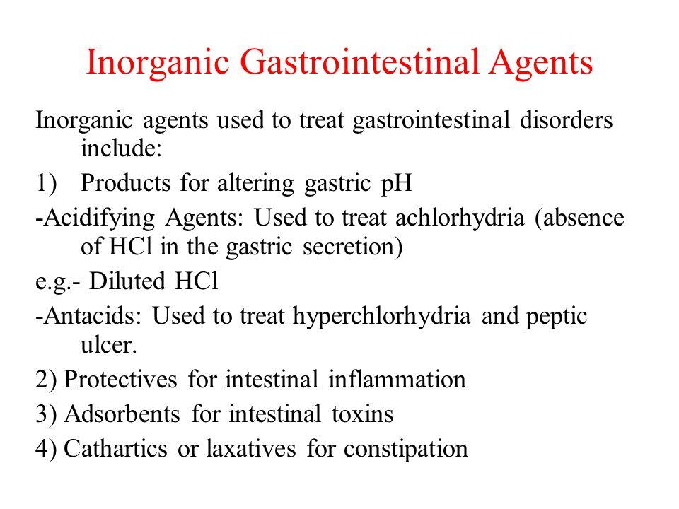 Inorganic Gastrointestinal Agents