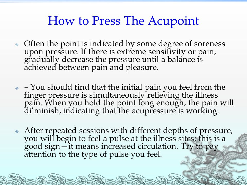 How to Press The Acupoint