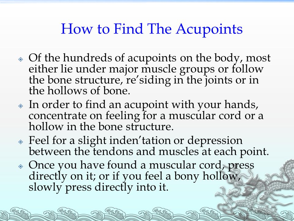 How to Find The Acupoints