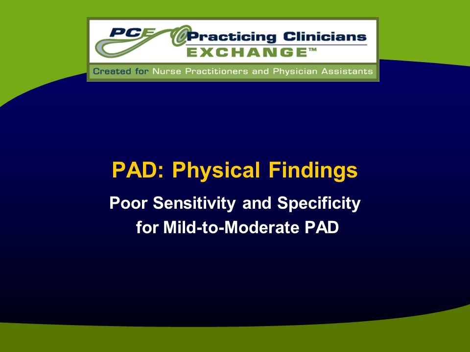 PAD: Physical Findings