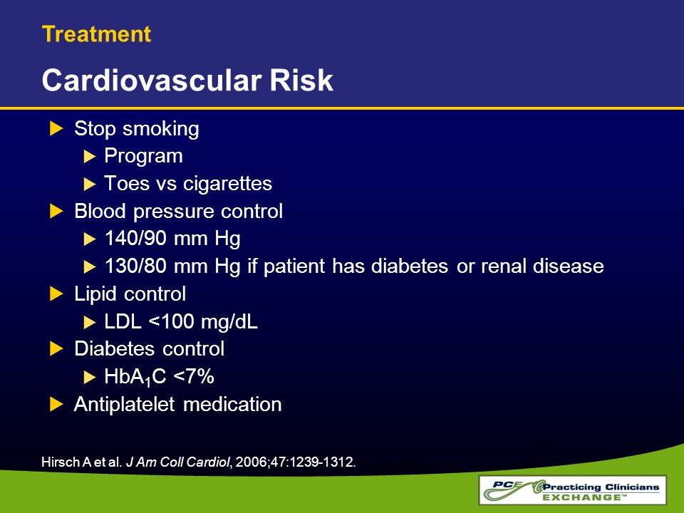 Cardiovascular Risk Treatment Stop smoking Program Toes vs cigarettes