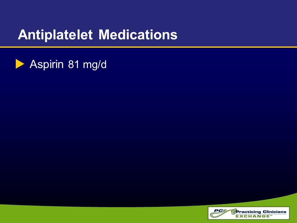 Antiplatelet Medications