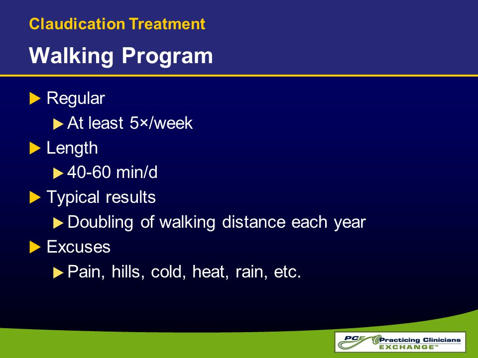 Walking Program Regular At least 5×/week Length 40-60 min/d
