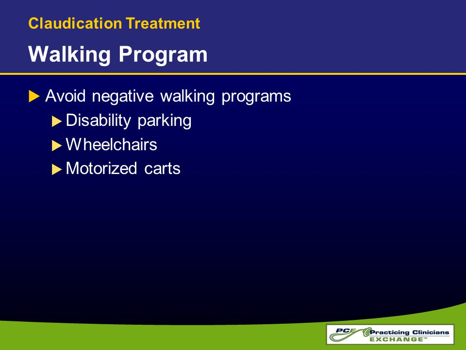 Walking Program Avoid negative walking programs Disability parking