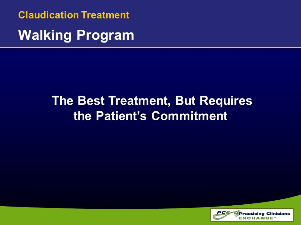 The Best Treatment, But Requires the Patient's Commitment