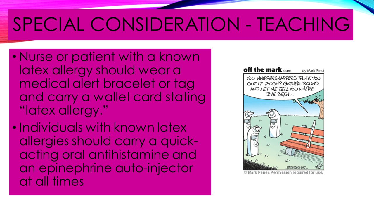 Special consideration - teaching