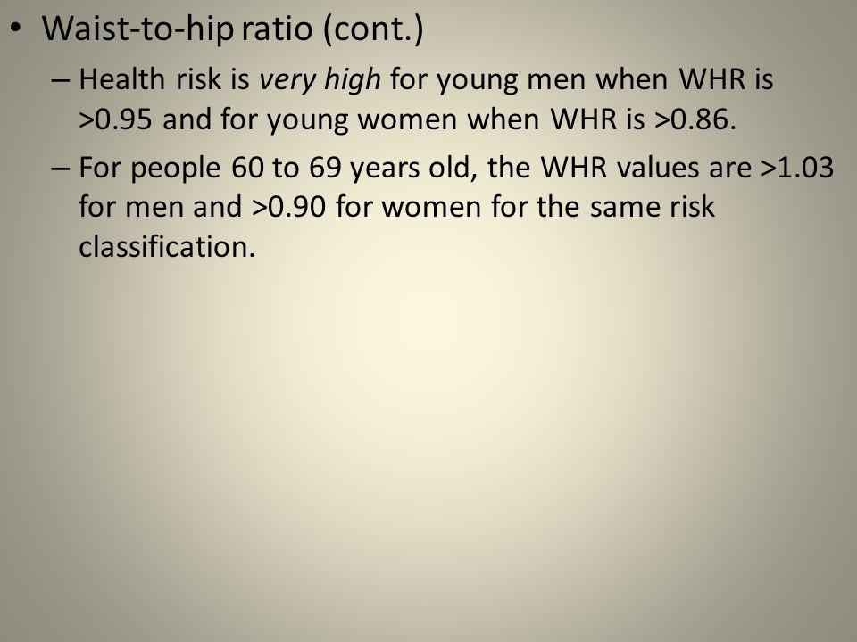 Waist-to-hip ratio (cont.)