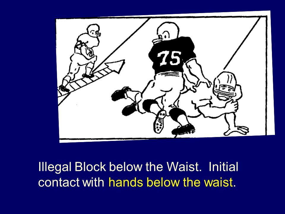 Illegal Block below the Waist. Initial