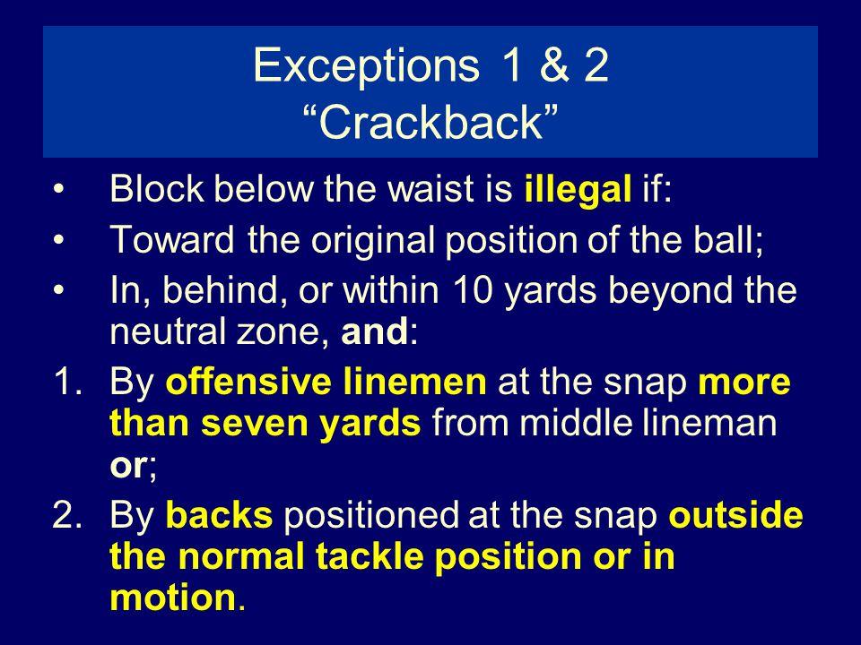 Exceptions 1 & 2 Crackback