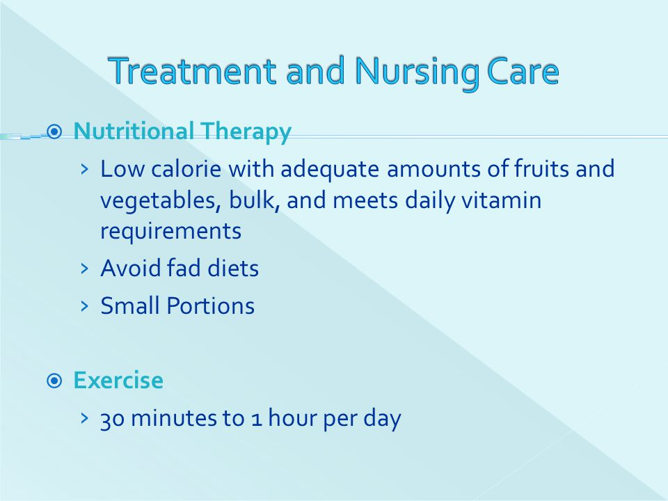 Treatment and Nursing Care
