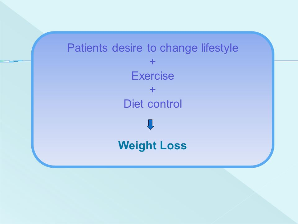 Patients desire to change lifestyle