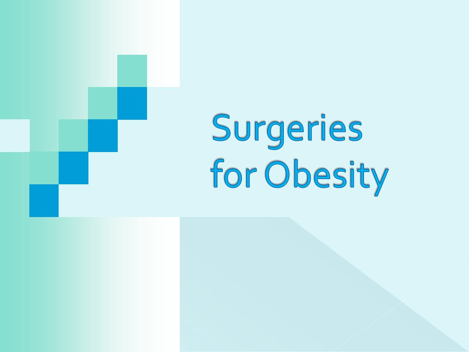 Surgeries for Obesity