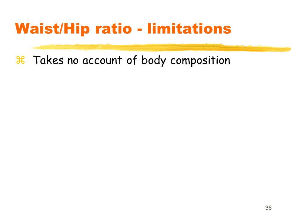 Waist/Hip ratio - limitations