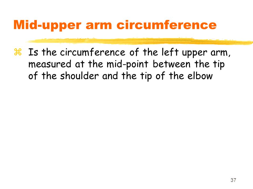 Mid-upper arm circumference