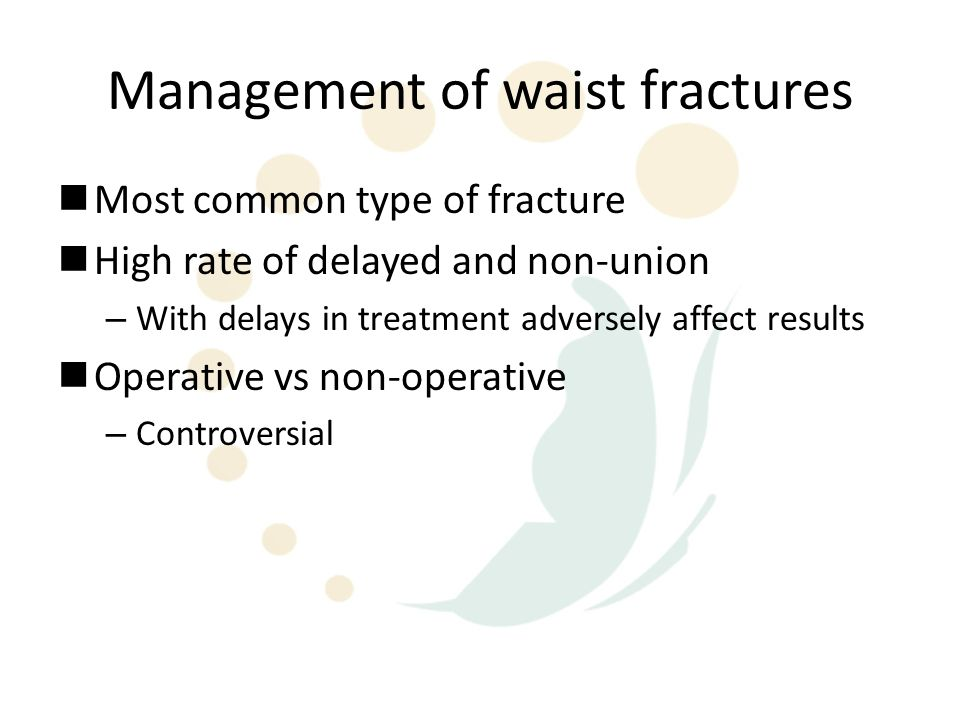 Management of waist fractures