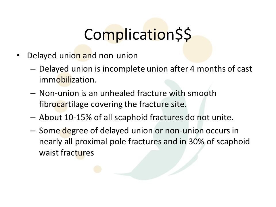 Complication$$ Delayed union and non-union