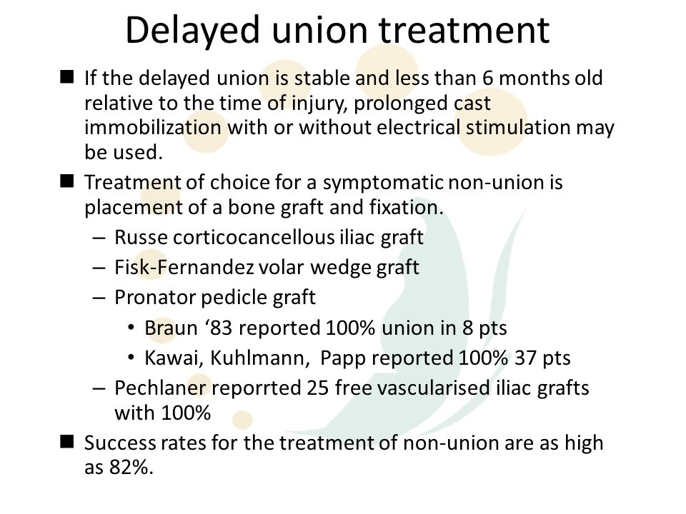 Delayed union treatment