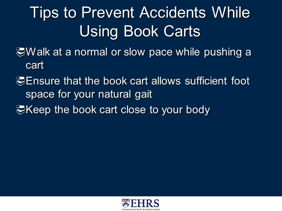 Tips to Prevent Accidents While Using Book Carts