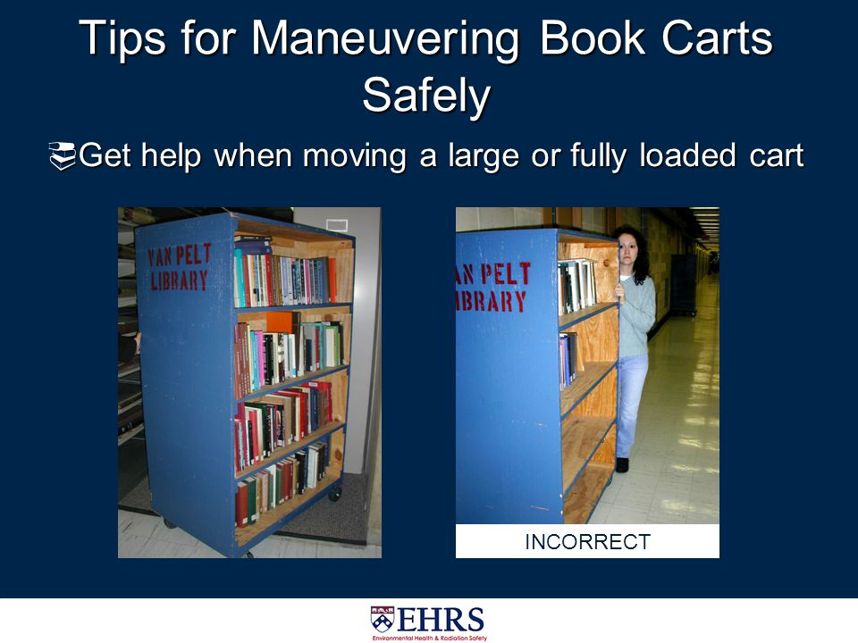 Tips for Maneuvering Book Carts Safely
