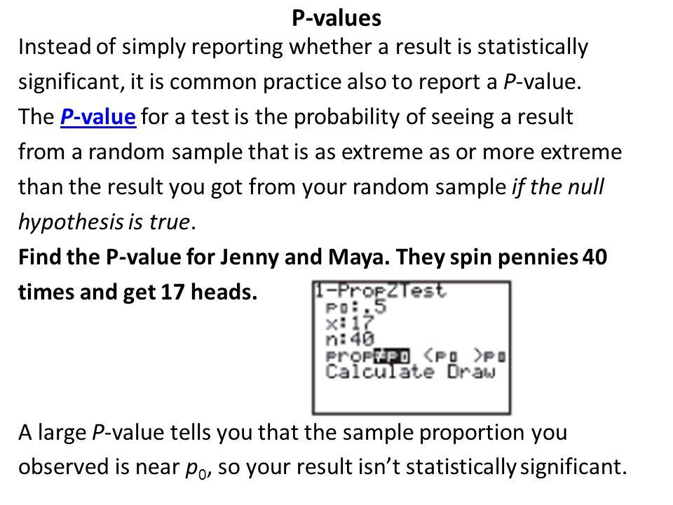 P-values