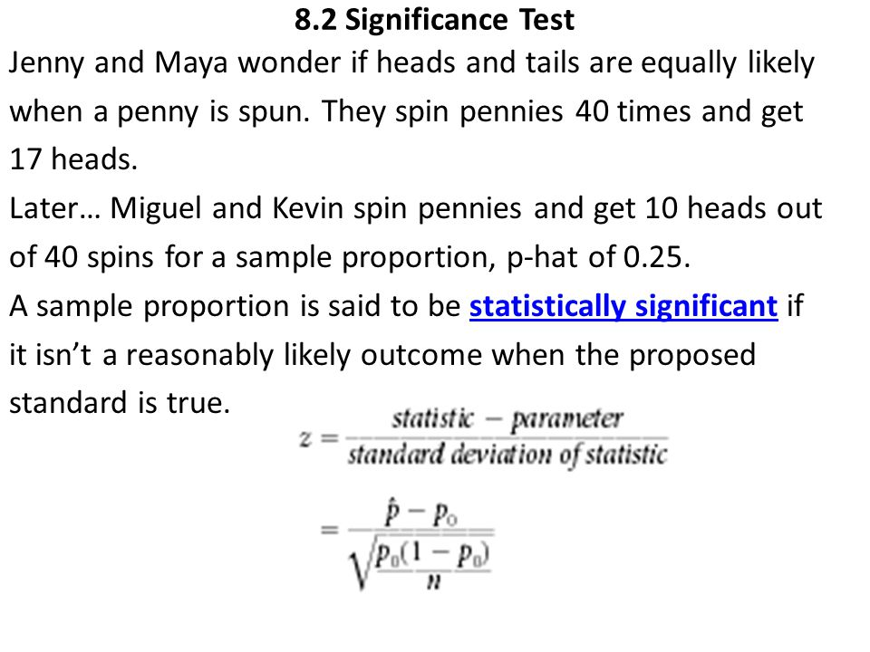 8.2 Significance Test